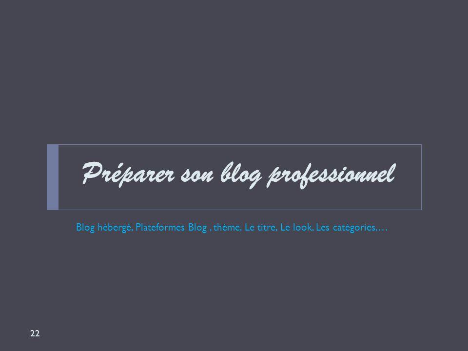 Préparer son blog professionnel