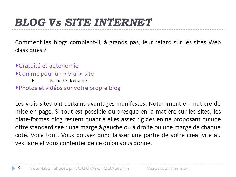 BLOG Vs SITE INTERNET Comment les blogs comblent-il, à grands pas, leur retard sur les sites Web classiques