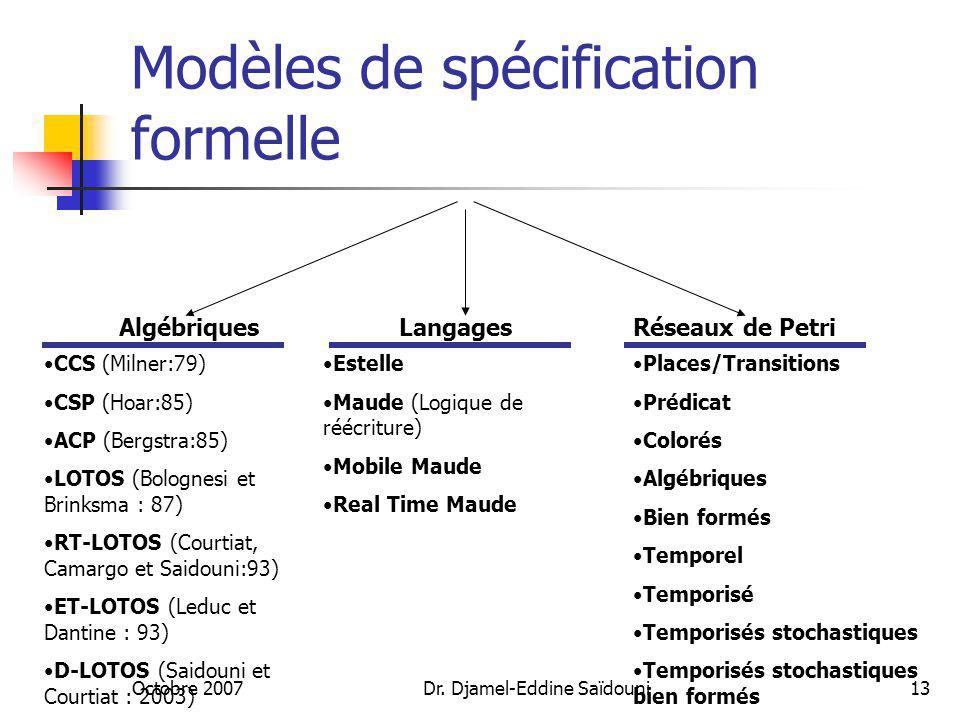Modèles de spécification formelle