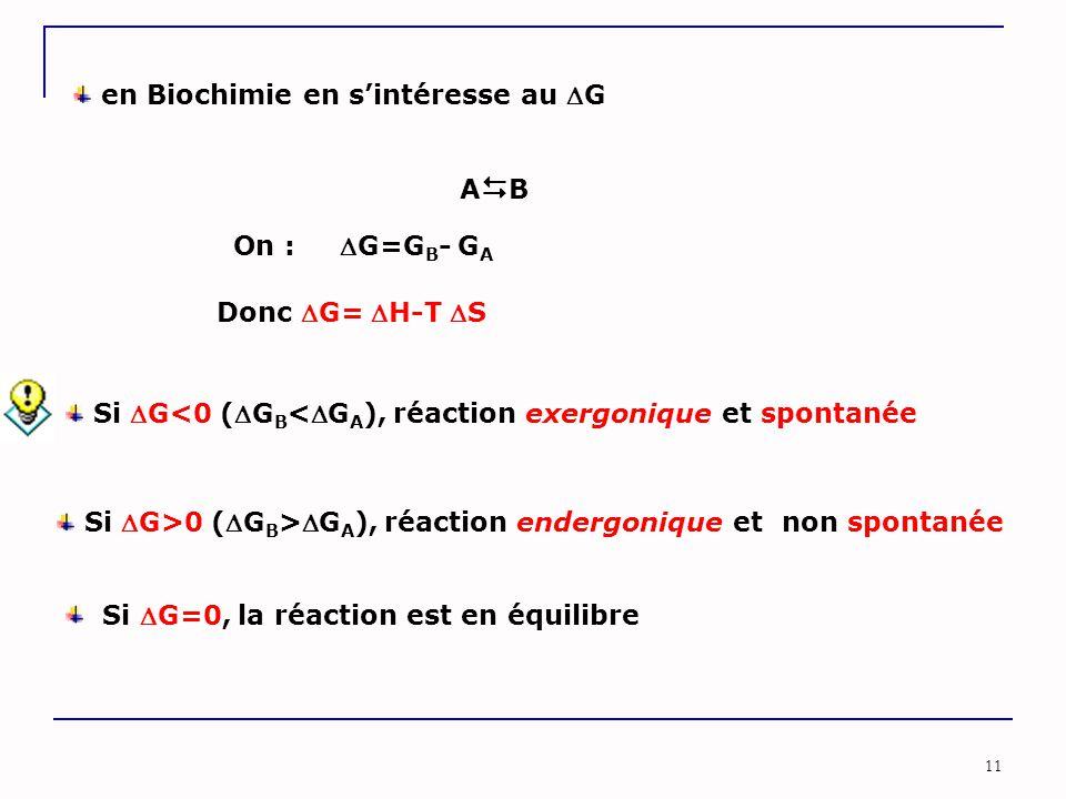 en Biochimie en s'intéresse au G