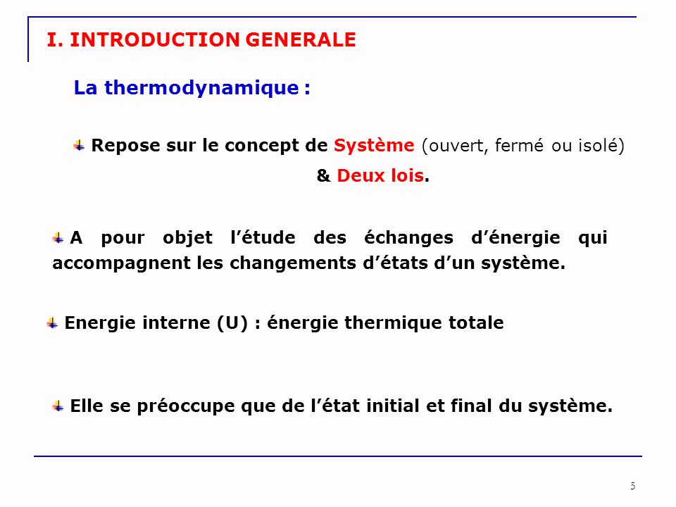 I. INTRODUCTION GENERALE