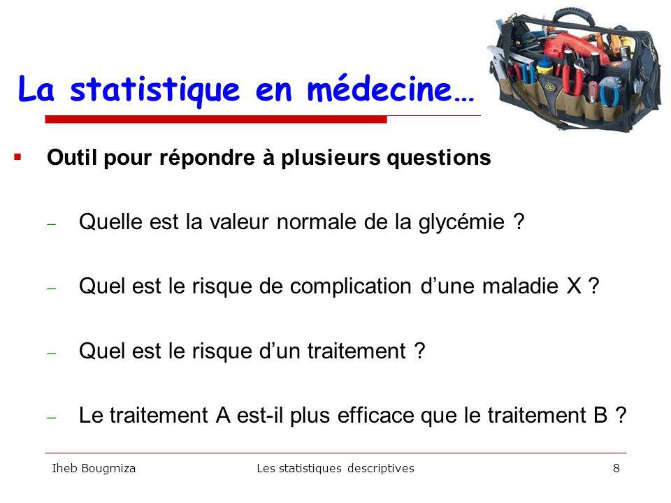 La statistique en médecine…