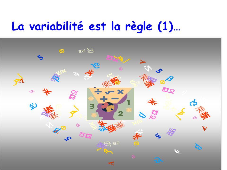 La variabilité est la règle (1)…