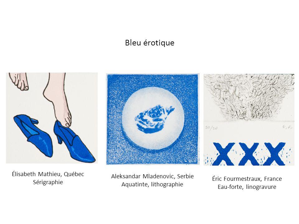 Bleu érotique Élisabeth Mathieu, Québec Aleksandar Mladenovic, Serbie