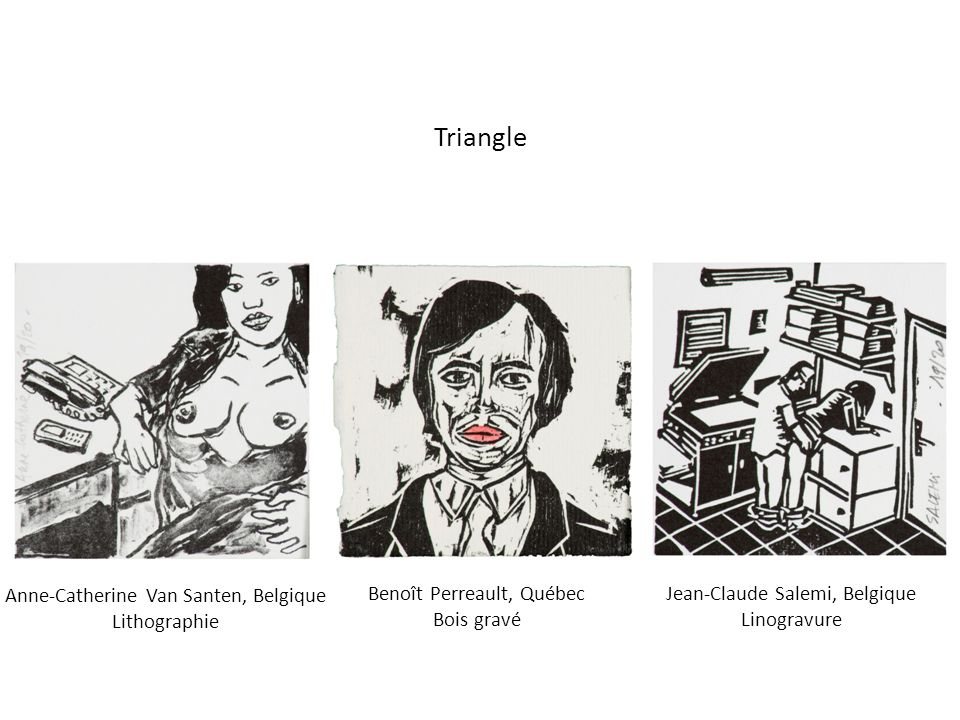 Triangle Anne-Catherine Van Santen, Belgique Lithographie