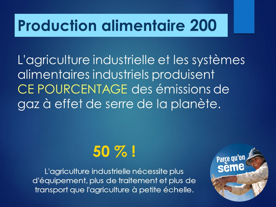 Production alimentaire 200