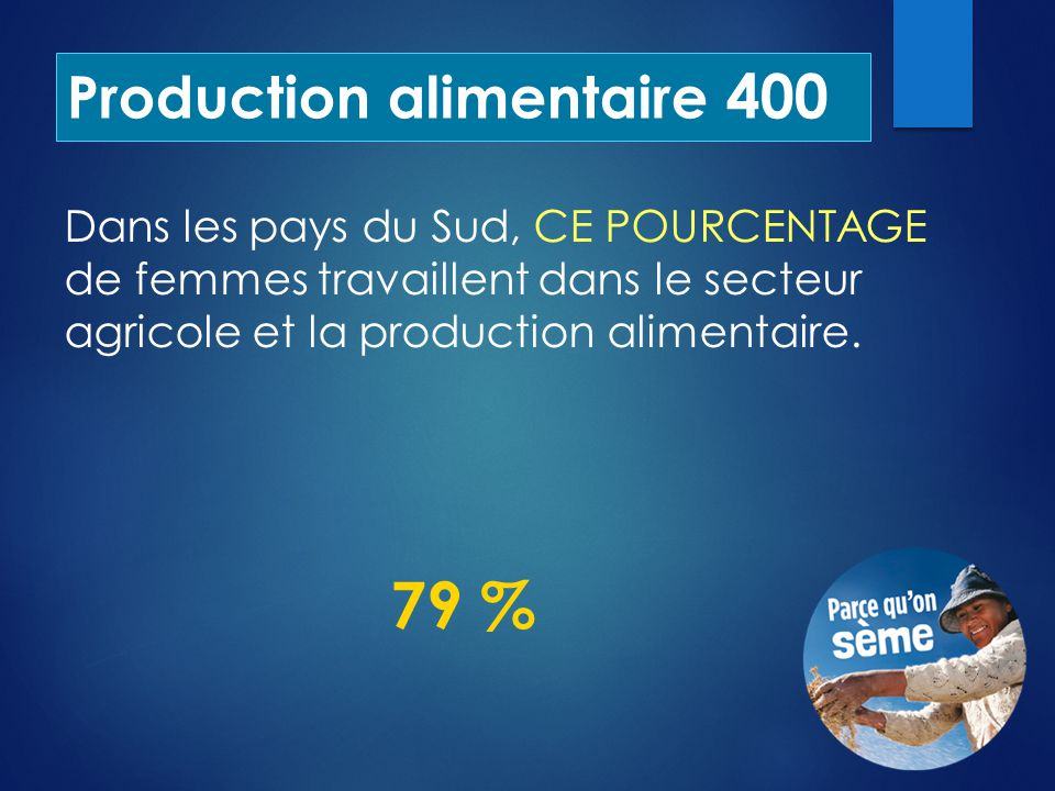 Production alimentaire 400