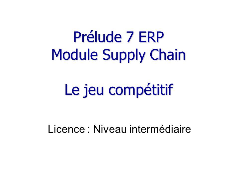 Prélude 7 ERP Module Supply Chain Le jeu compétitif
