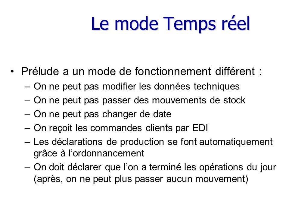 Le mode Temps réel Prélude a un mode de fonctionnement différent :