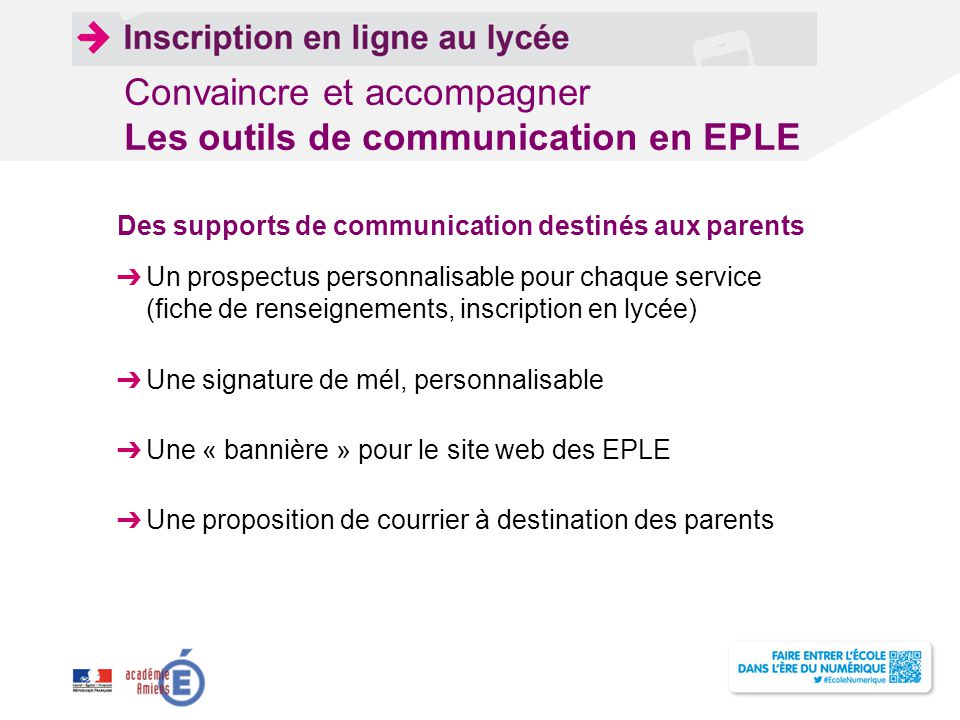 Convaincre et accompagner Les outils de communication en EPLE