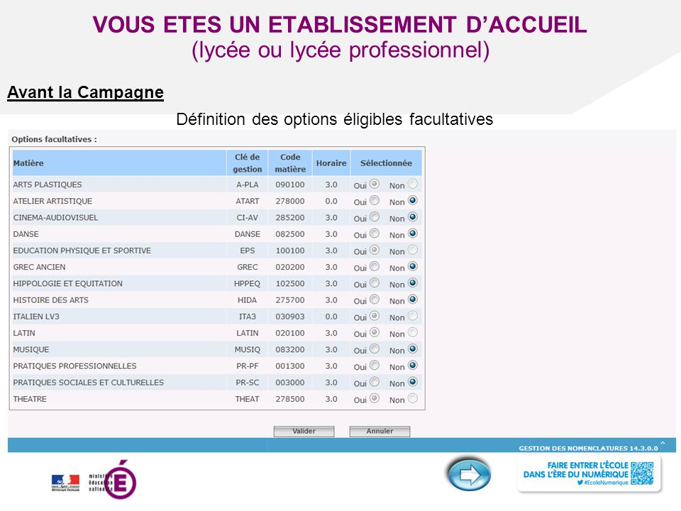 VOUS ETES UN ETABLISSEMENT D'ACCUEIL (lycée ou lycée professionnel)