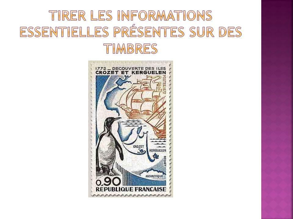 Tirer les informations essentielles présentes sur des timbres