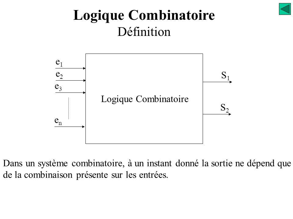 Logique Combinatoire Définition
