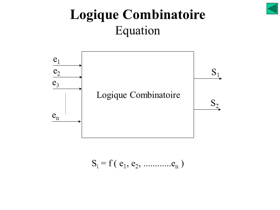 Logique Combinatoire Equation