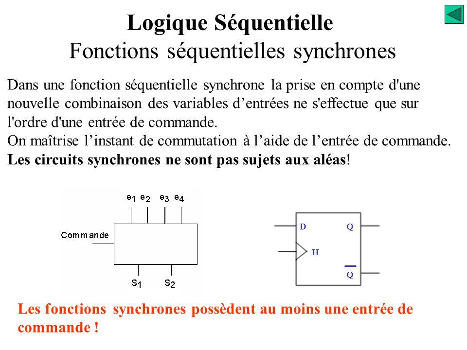 Logique Séquentielle Fonctions séquentielles synchrones