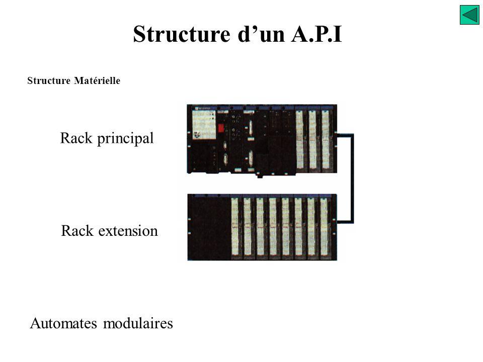 Structure d'un A.P.I Rack principal Rack extension