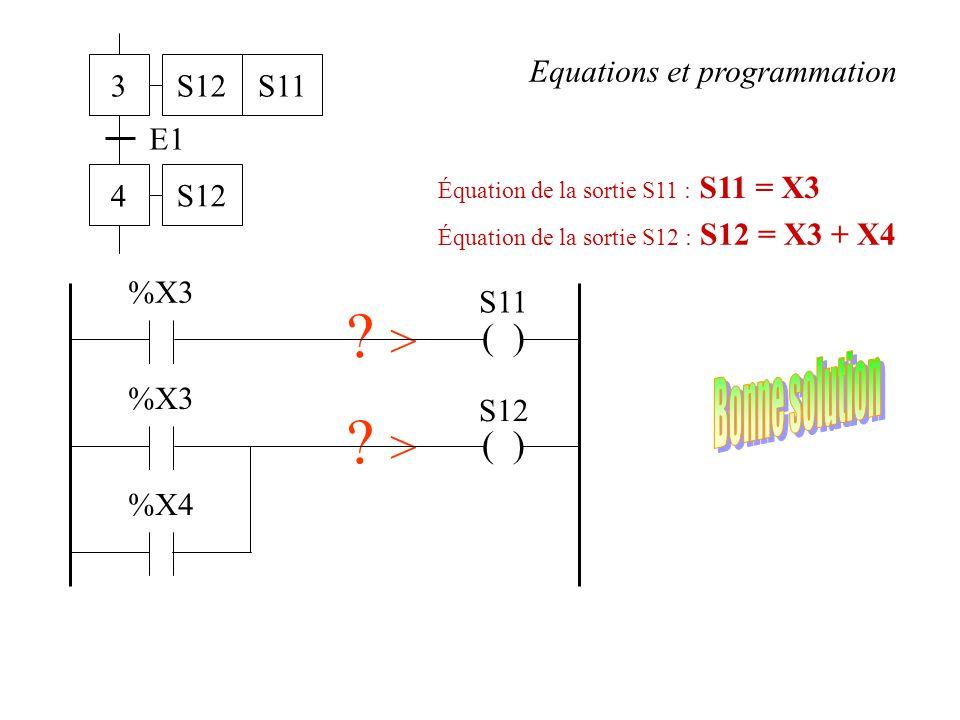 > > Bonne solution ( ) ( ) 3 4 E1 S12 S11
