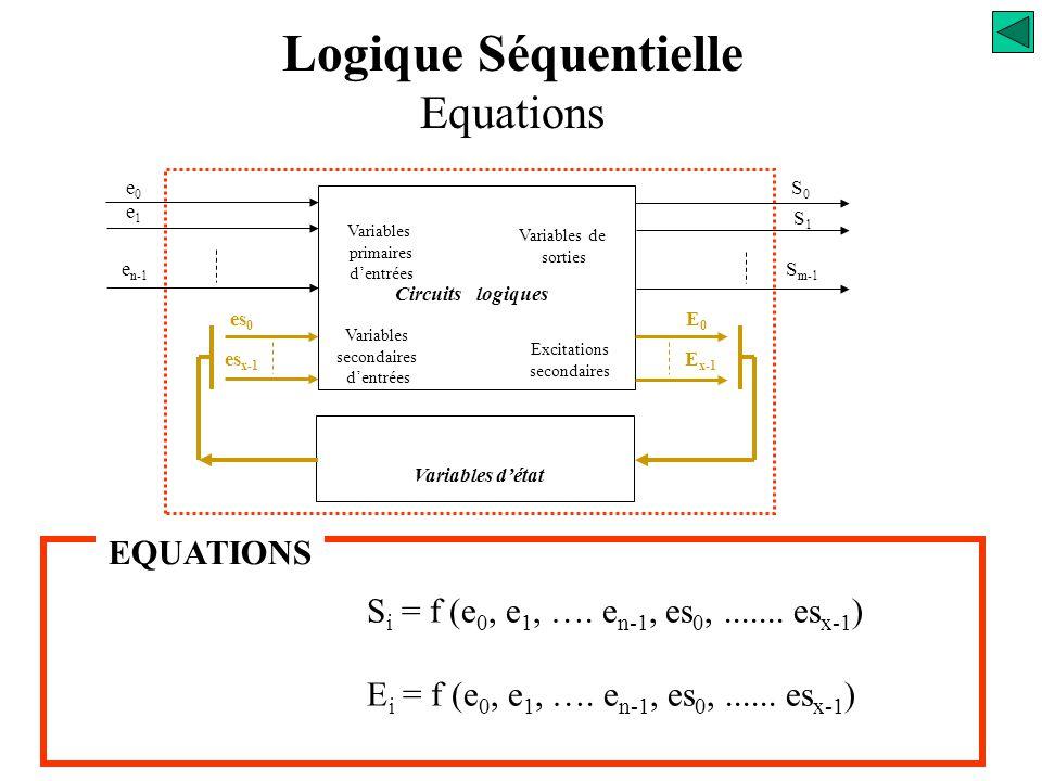 Logique Séquentielle Equations