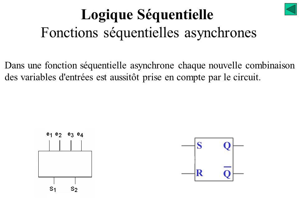 Logique Séquentielle Fonctions séquentielles asynchrones
