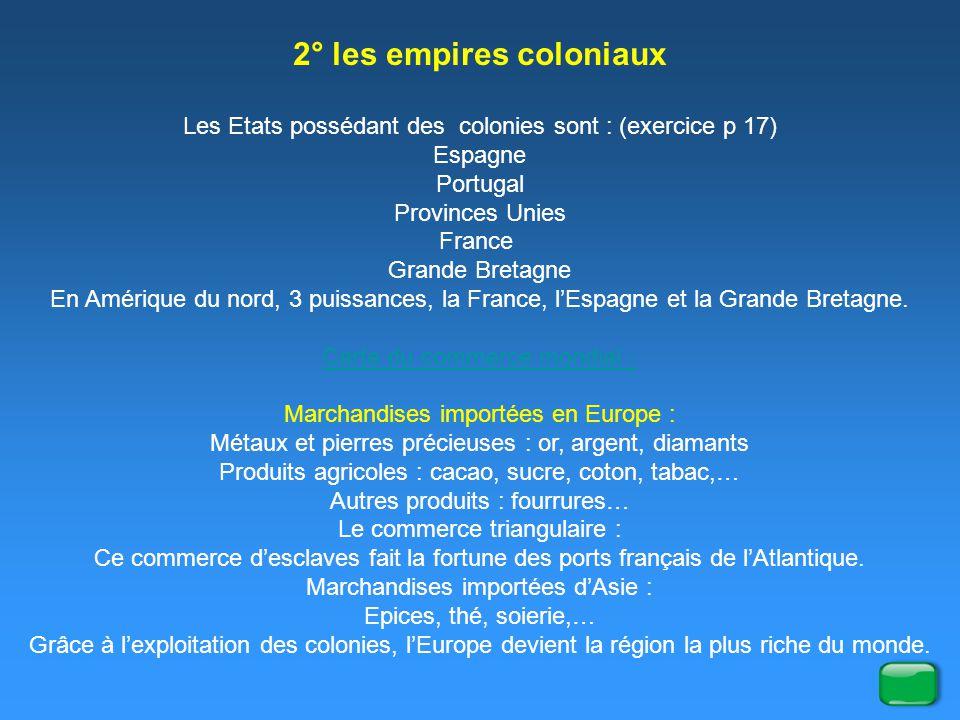 2° les empires coloniaux