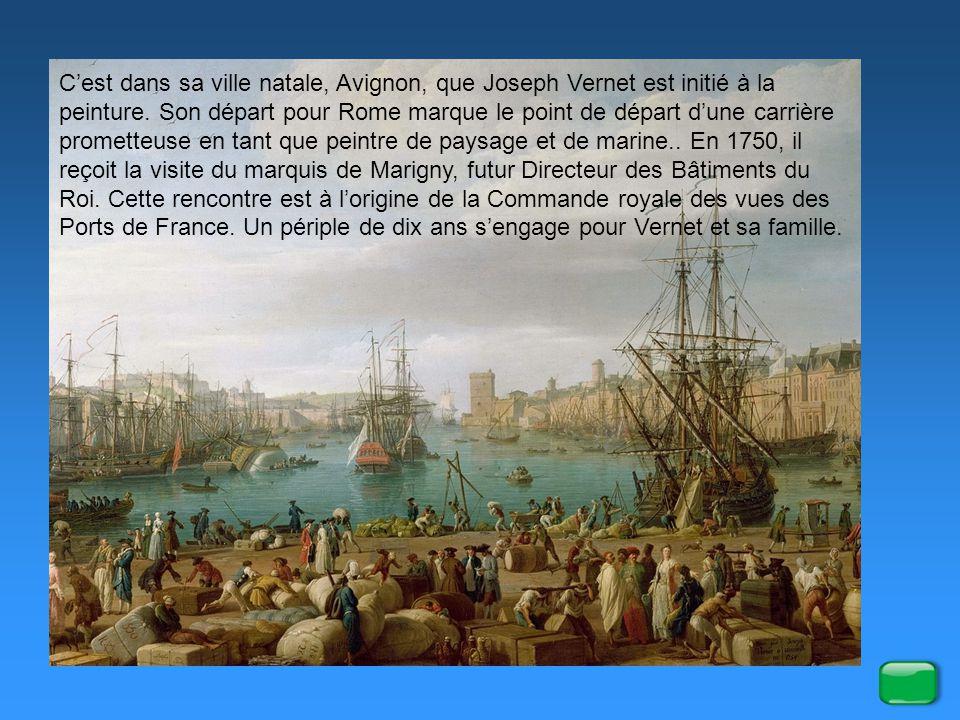C'est dans sa ville natale, Avignon, que Joseph Vernet est initié à la peinture.
