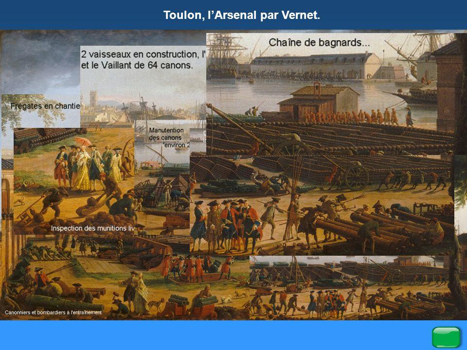 Toulon, l'Arsenal par Vernet.
