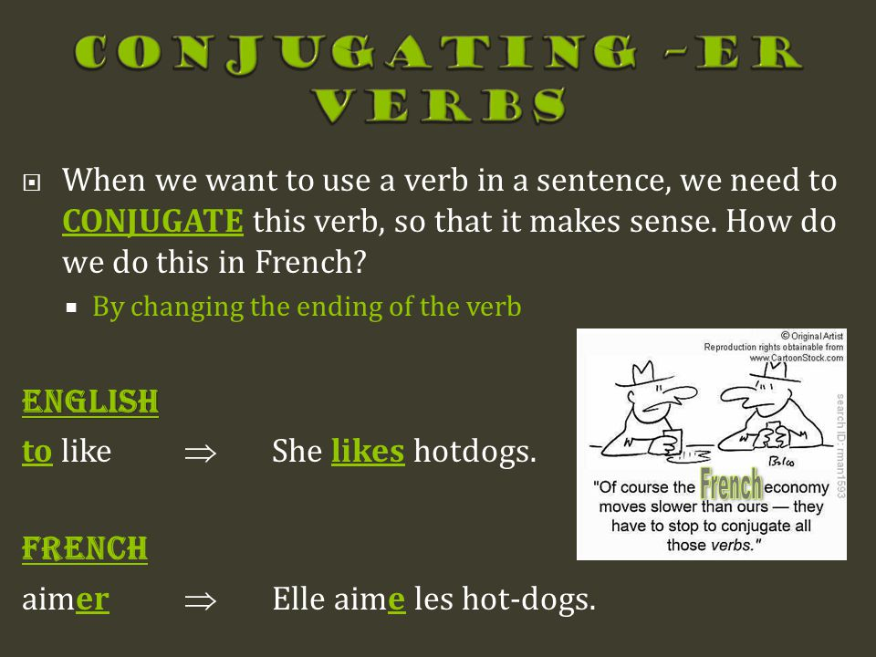 Conjugating –ER Verbs French