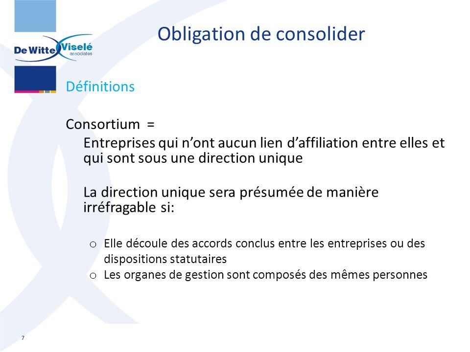 Obligation de consolider
