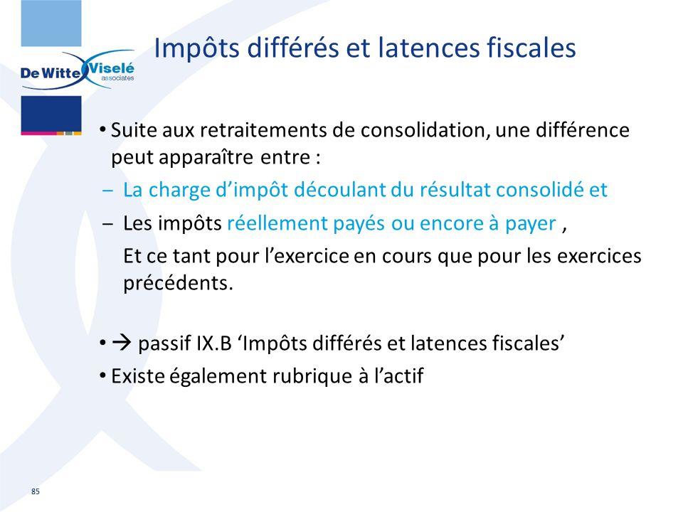 Impôts différés et latences fiscales