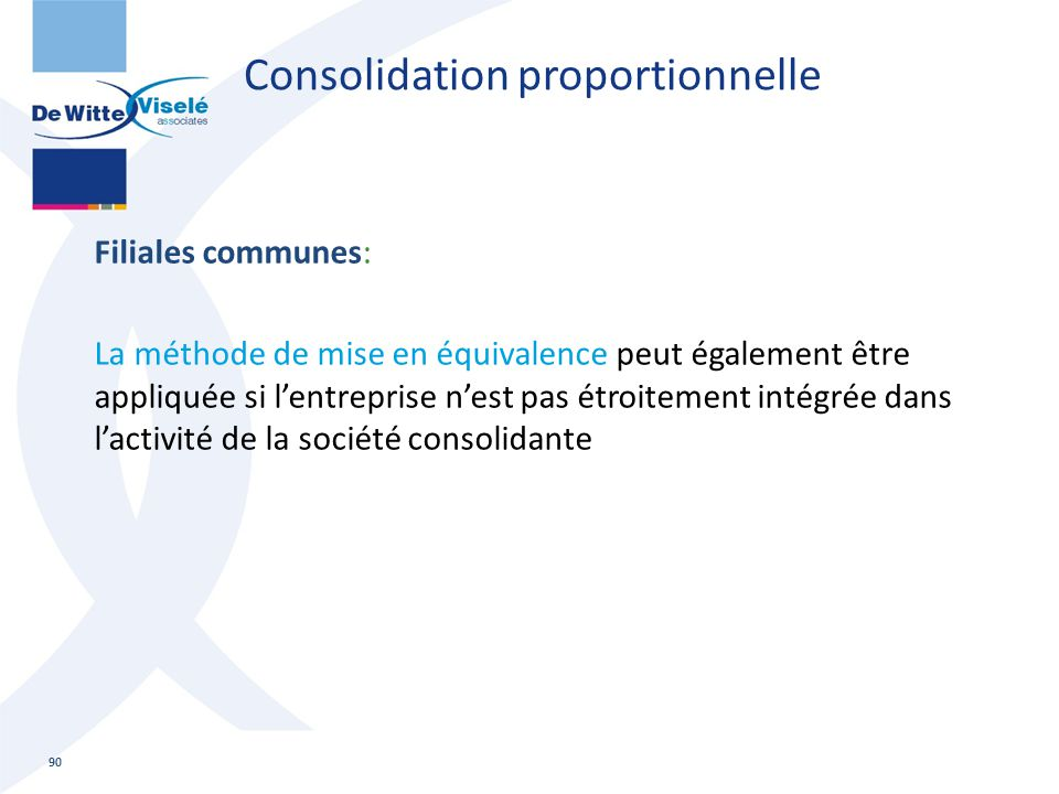 Consolidation proportionnelle