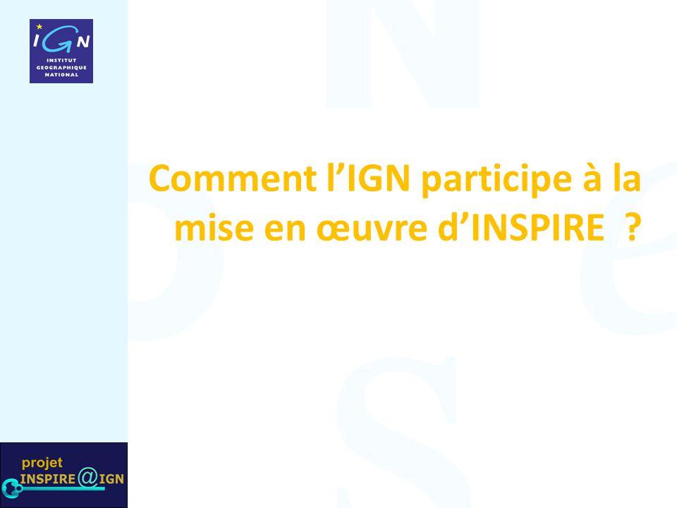 Comment l'IGN participe à la mise en œuvre d'INSPIRE