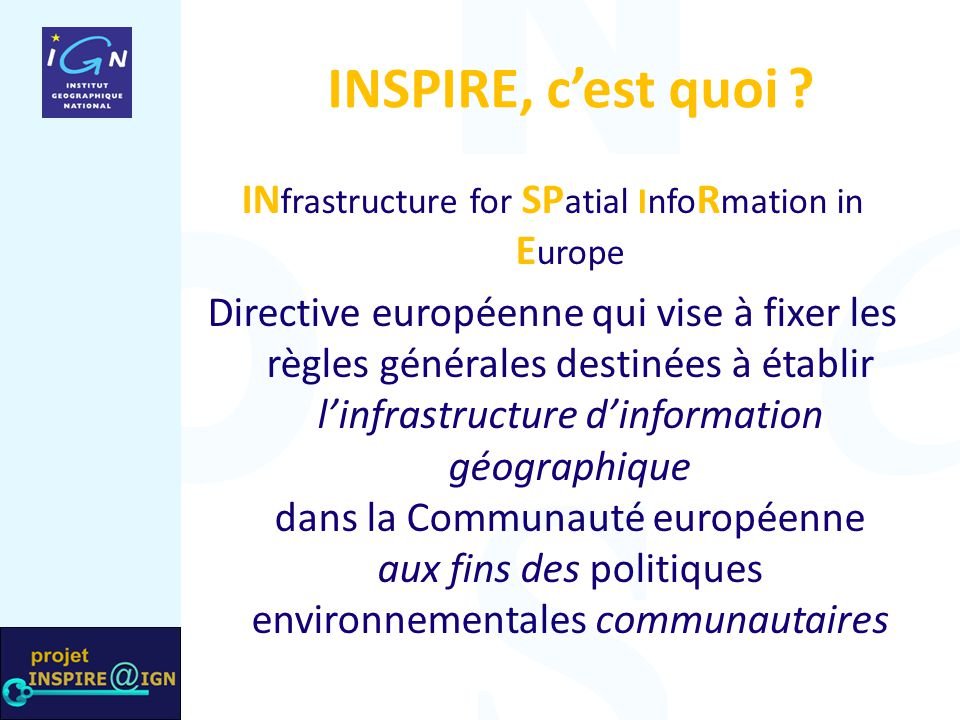 INfrastructure for SPatial InfoRmation in Europe