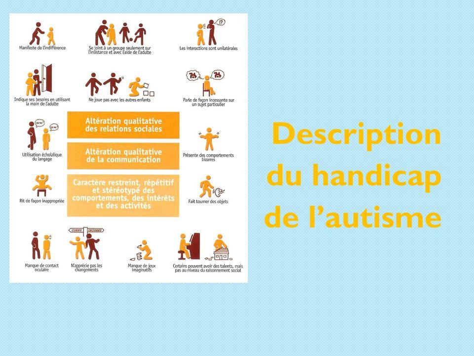 Description du handicap de l'autisme