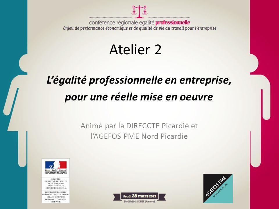 Atelier 2 L'égalité professionnelle en entreprise,