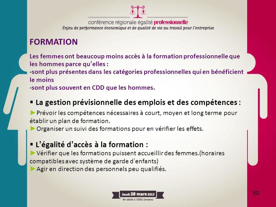 FORMATION La gestion prévisionnelle des emplois et des compétences :