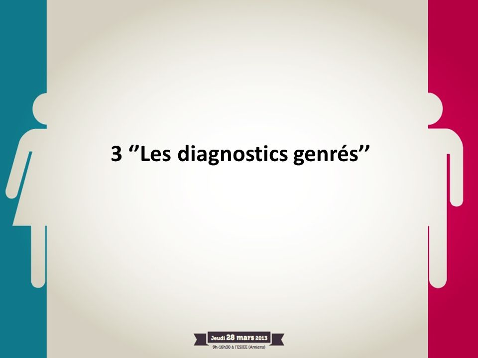 3 ''Les diagnostics genrés''