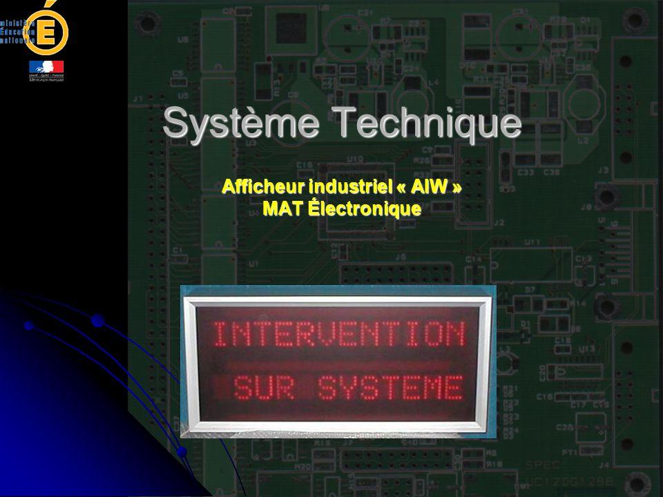 Afficheur industriel « AIW » MAT Électronique