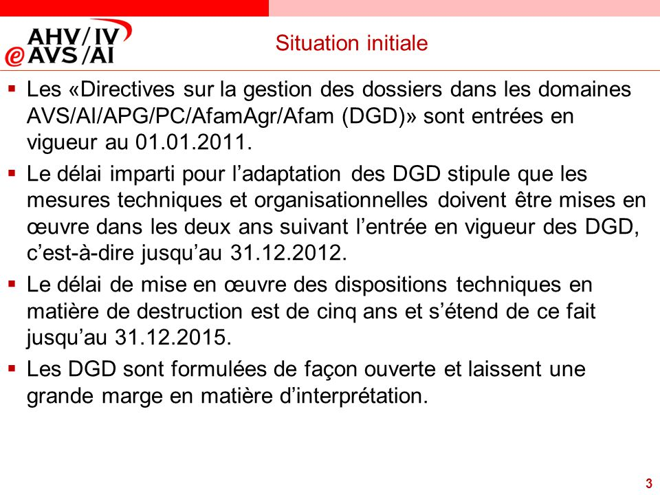 Situation initiale