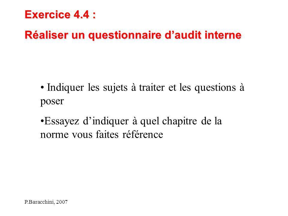 Réaliser un questionnaire d'audit interne