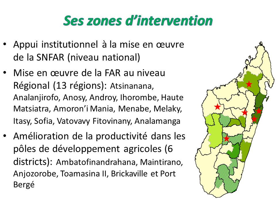Ses zones d'intervention