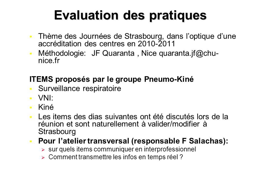 Evaluation des pratiques