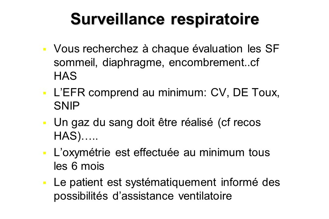 Surveillance respiratoire