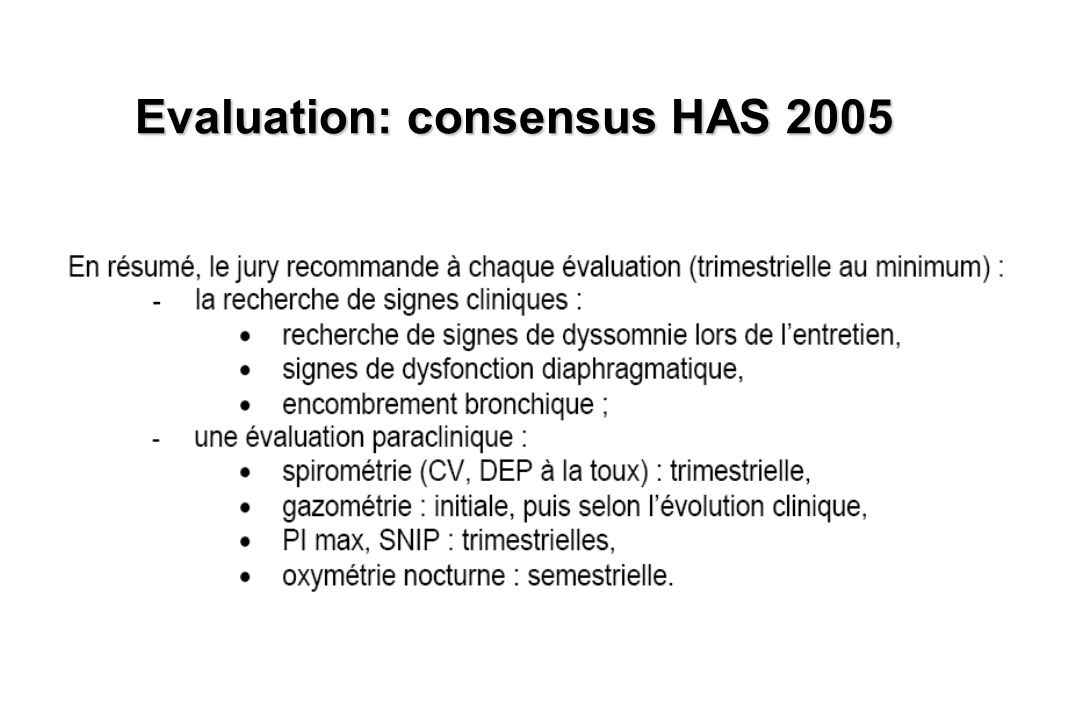 Evaluation: consensus HAS 2005