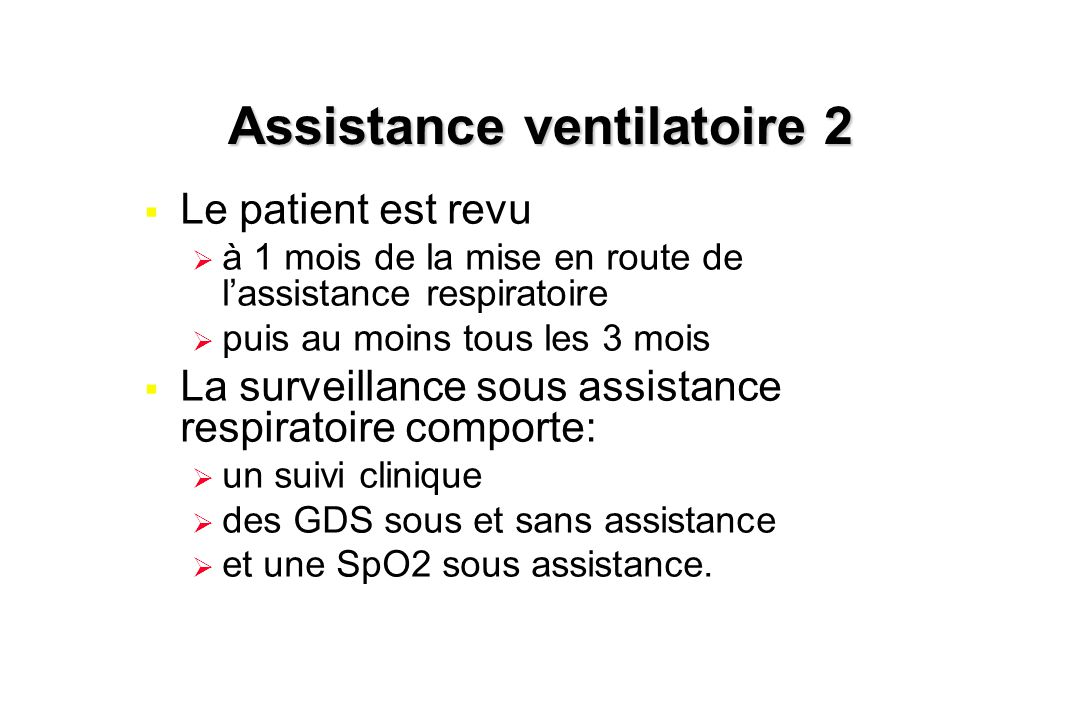 Assistance ventilatoire 2