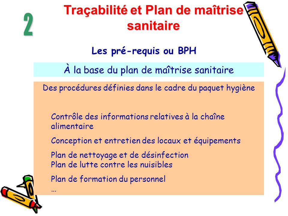 Traçabilité et Plan de maîtrise sanitaire