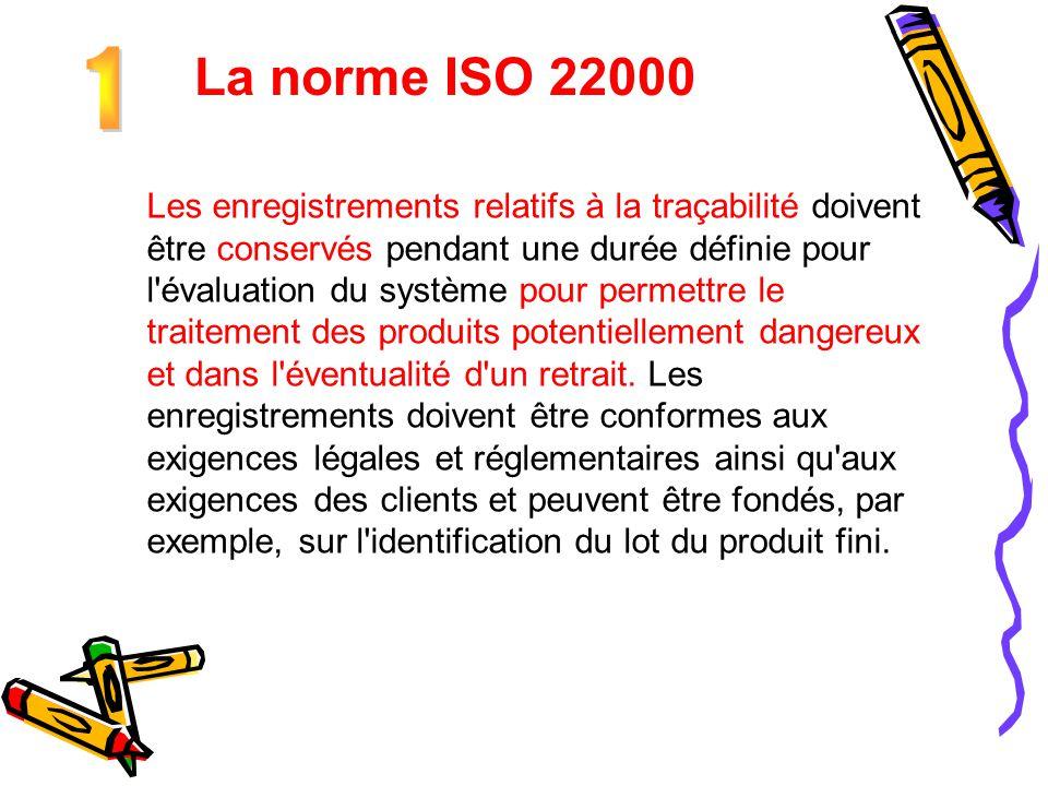 La norme ISO 22000 1.
