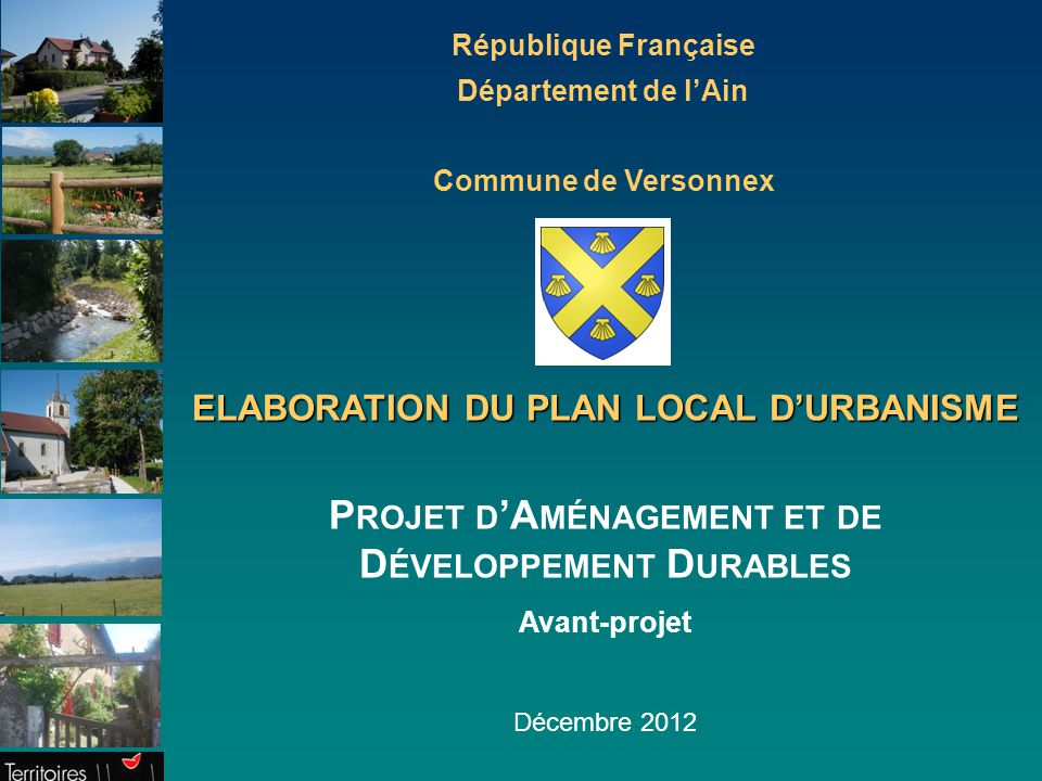 Projet d'Aménagement et de Développement Durables