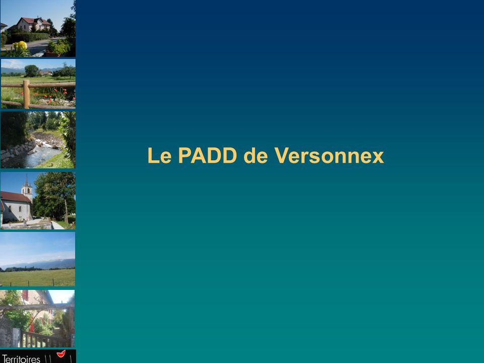 Le PADD de Versonnex