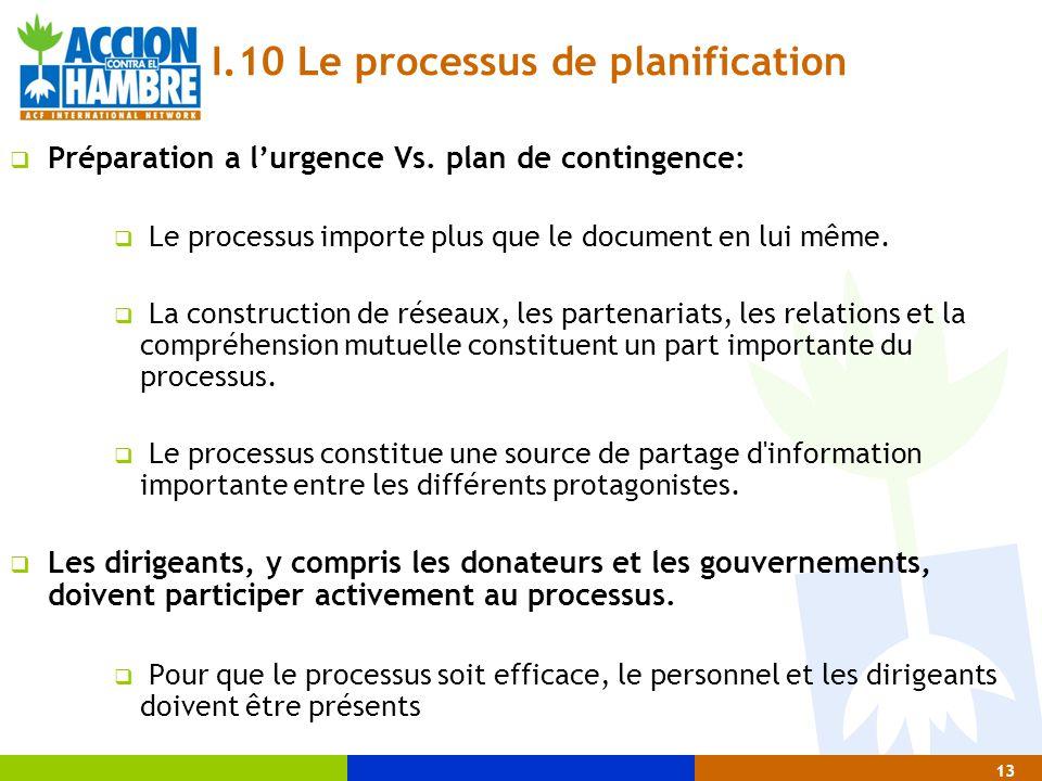 I.10 Le processus de planification
