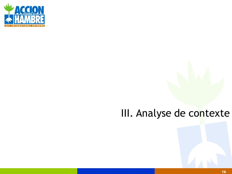 III. Analyse de contexte